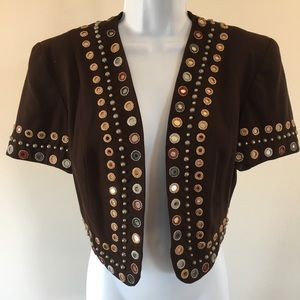 Double D Ranch Bolero with Mirrored Metal Hardware